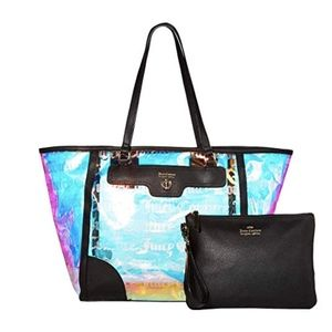 Juicy Couture Holographic Tote and Wallet Set